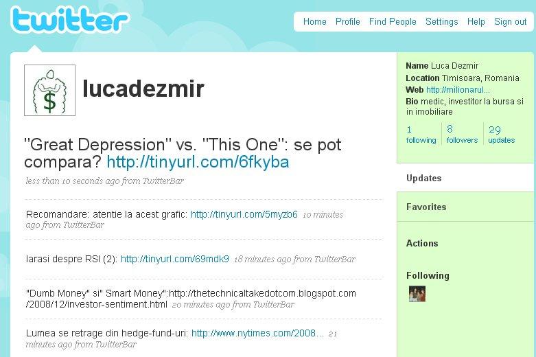 Contul meu de Twitter